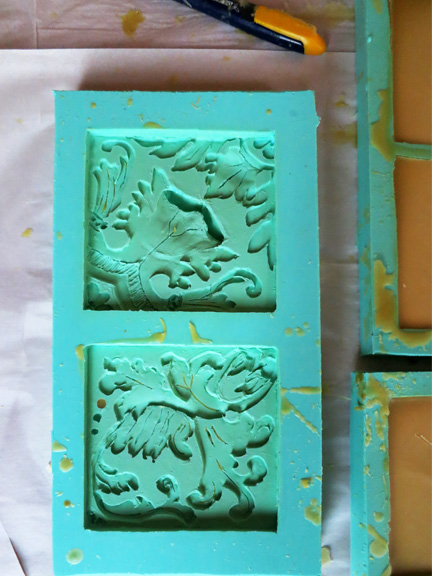 the silicone mould