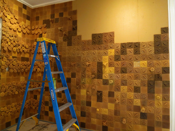 tile wall building quickly